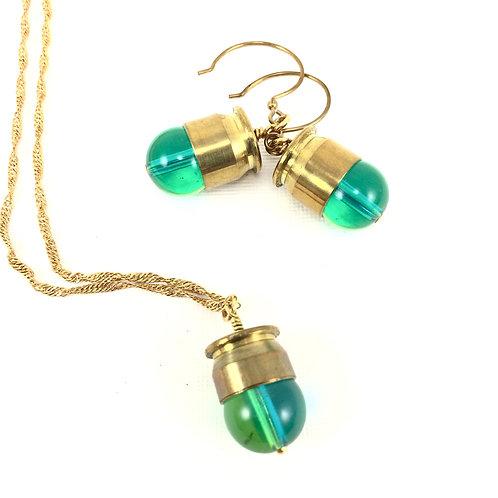 Bullet Case Nugget Necklace Set