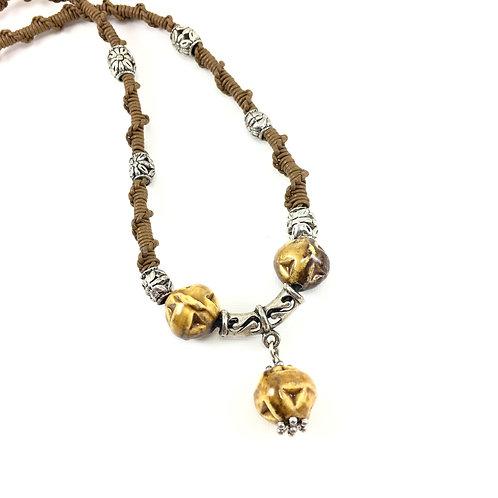 Caramelized Drop Necklace