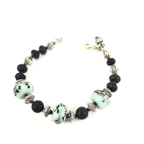 Black Blooms Bracelet