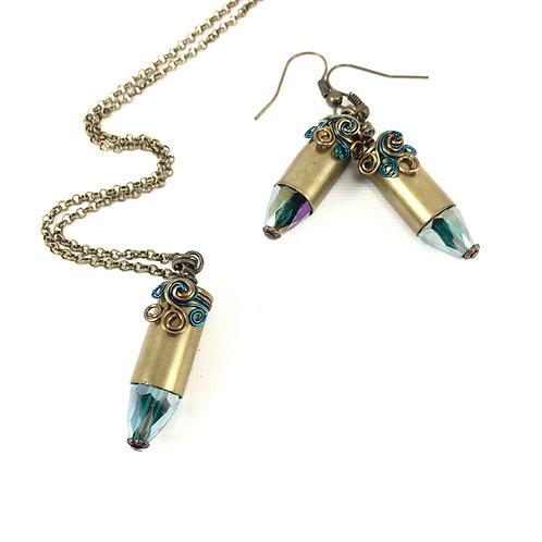 Full Case Bullet Necklace Set_Teal