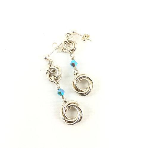 Mobius Drop Earrings