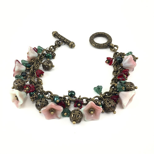 Vintage Christmas Bracelet Set