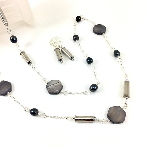Shell 'n Bullet Long Necklace Set