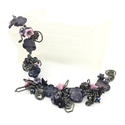 Hibiscus Night Bracelet Set