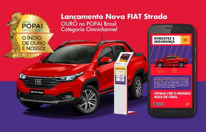 lançamento nova Fiat Strada projeto omnichannel CDA Design