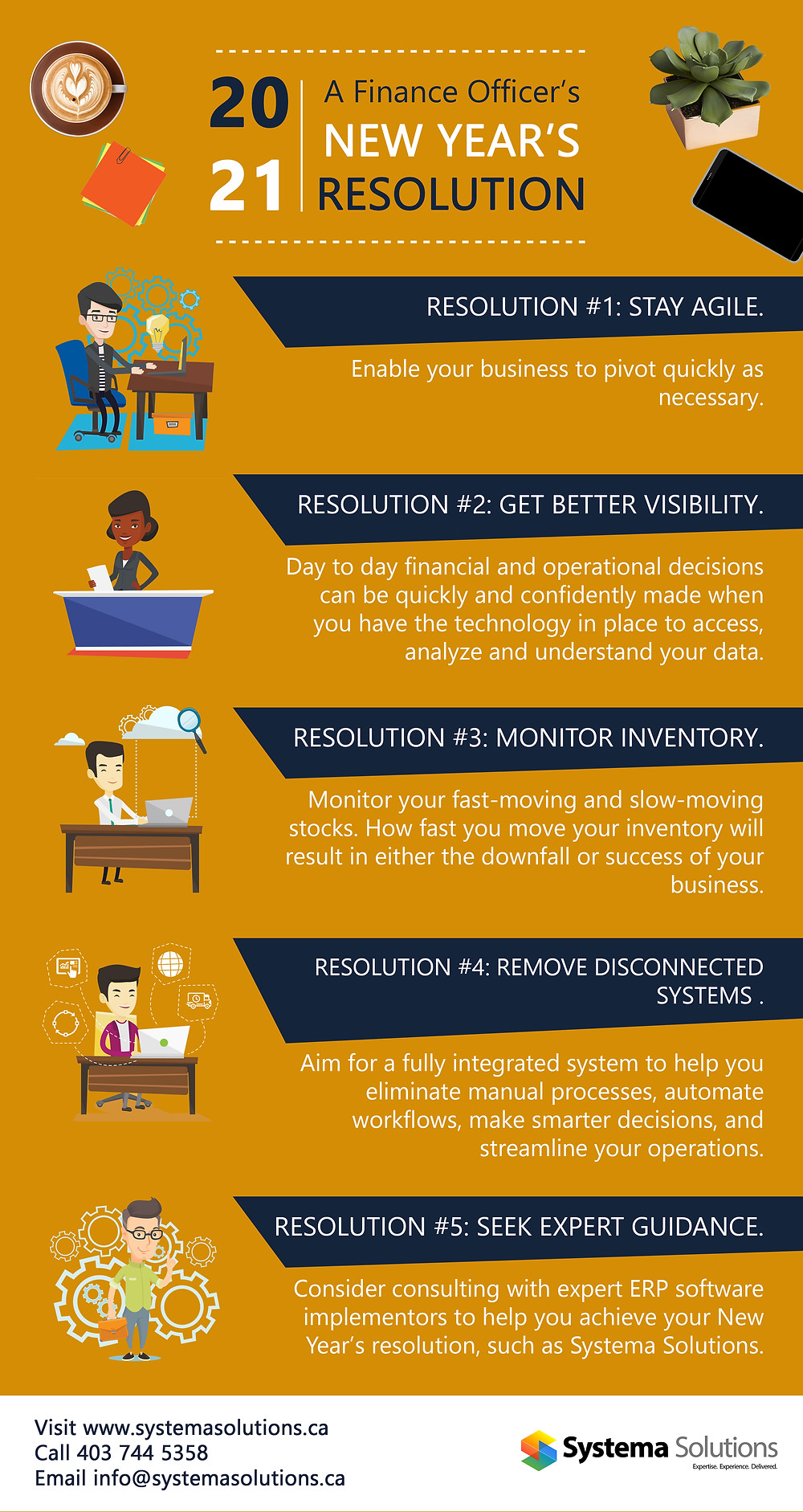 Infographic on Finance Officer's New Year's Resolution