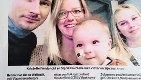 """Nieuws over screening naar SMA geeft ouders van baby Victor hoop: """"Hopelijk komt die er nu gauw"""""""