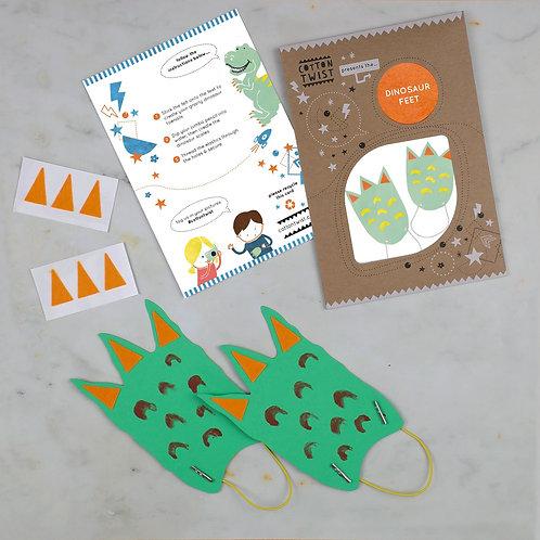 Make Your Own Dinosaur Feet Kit