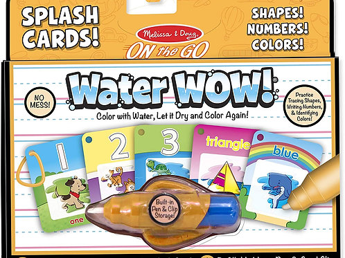Melissa & Doug: Water Wow Splash Cards (Shapes, Numbers, & Colors)