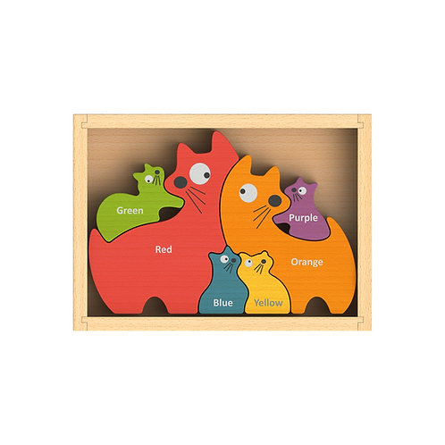 BeginAgain Cat Family Puzzle (Bilingual)