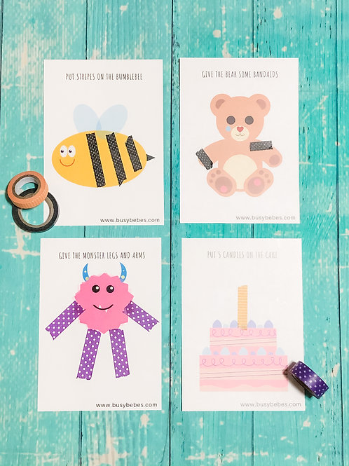 Activity Washi Tape Cards + Washi Tape