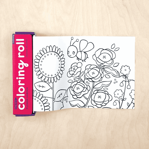 MudPuppy: Flower Garden Mini Coloring Roll