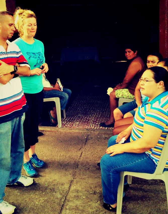 Parents wait with children