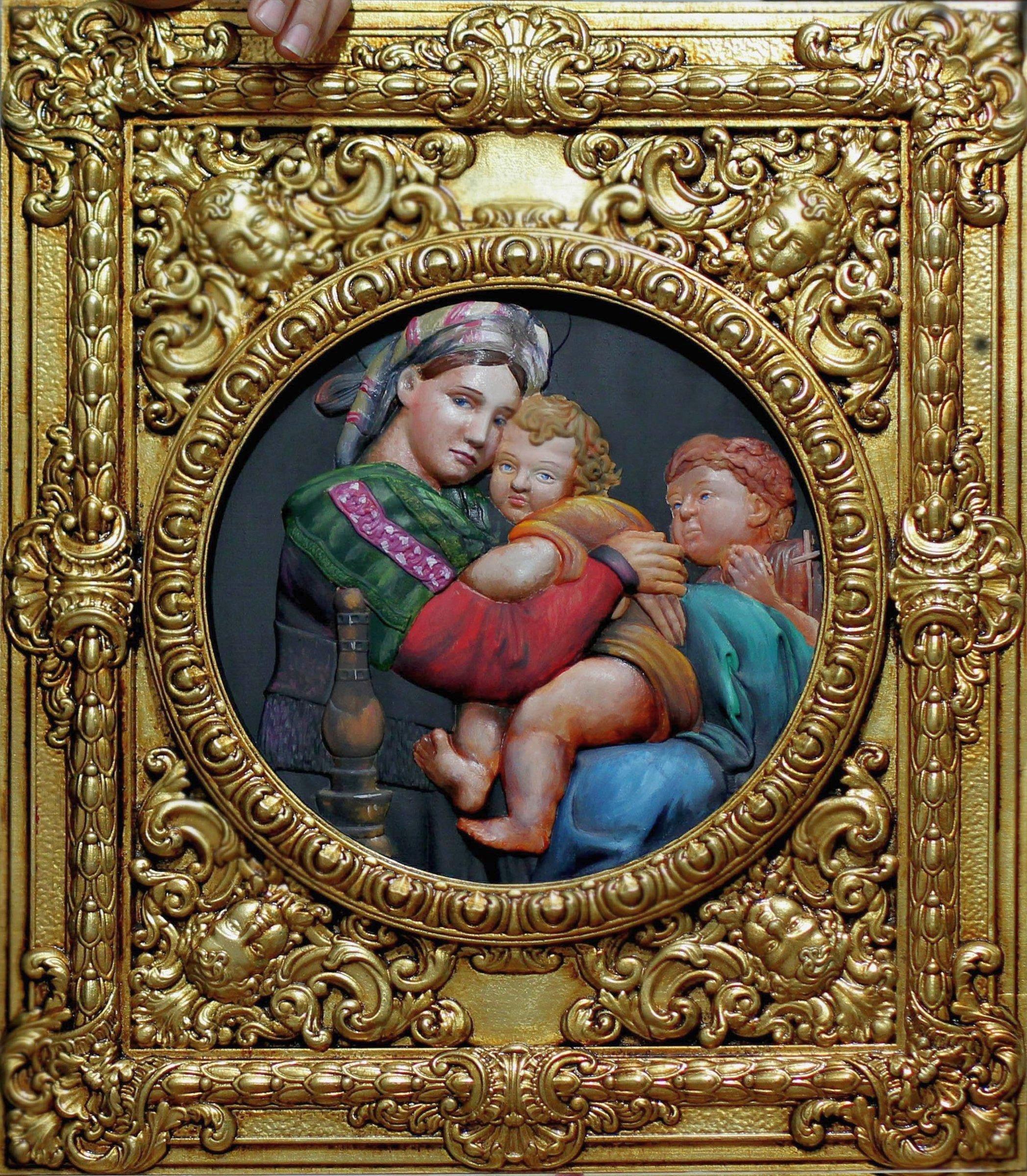 Панно Мадонна с младенцем