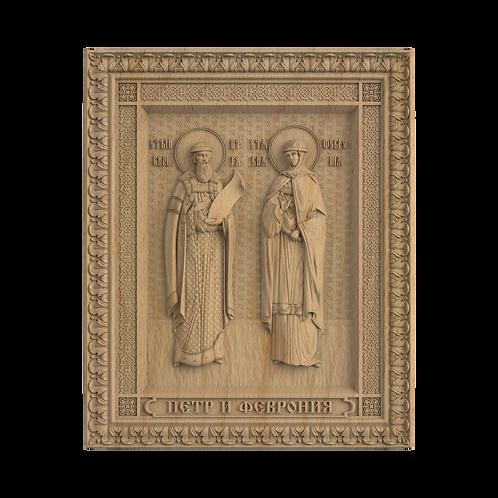 CR-057_01_Икона Св благоверные князь Петр и княгиня Феврония