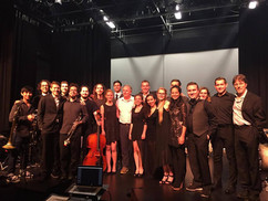 Berklee Silent Film Orchestra with President Roger Brown