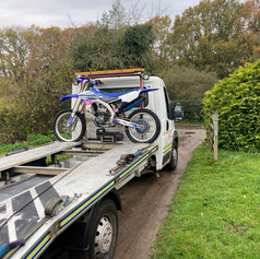 Motorbike being transported by London Recovery Ltd