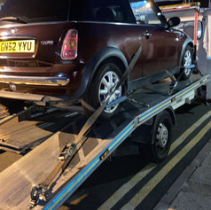 Mini cooper collected after breakdown in London