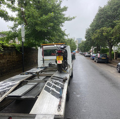 Motorbike recovered by London Recovery Ltd