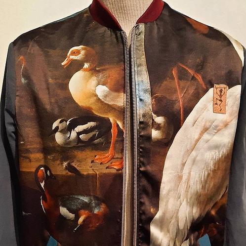 """D'Hondecoeter jas met digital print """"Oude mesters"""""""