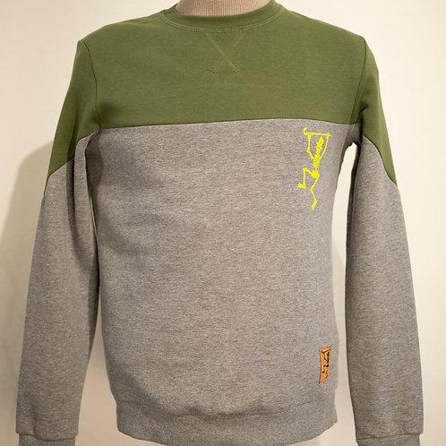 Sweatshirt met combinatie