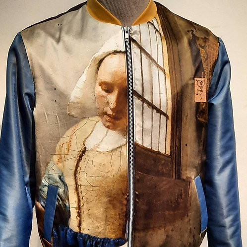 """Vermeer jas met digital print """"Oude Meesters"""""""