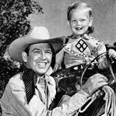 Rex Allen Jr. with his dad.