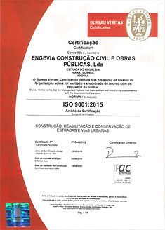 Engevia Construção Civil | Certificação ISO 9001:2015