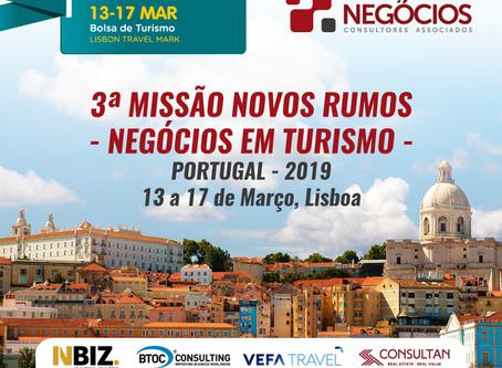 3ª Missão Novos Rumos - NEGÓCIOS EM TURISMO 2019