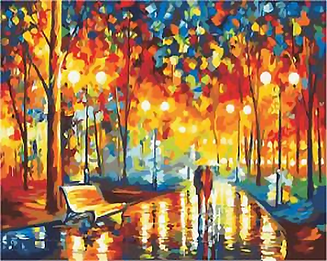 Couple Walking in Promenade by Leonid Afremov - 5/5 Complexity