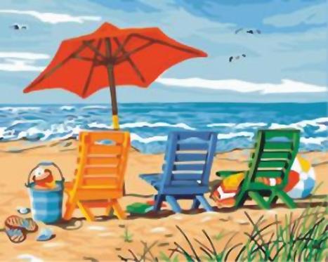 Beach Scene - 3.5/5 Complexity