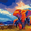 Thumbnail: Elephants in Savannah - 1.5/5 Complexity