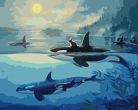 Orca Whales - 2/5 Complexity