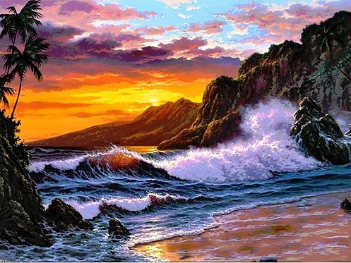 Beach Sunset Landscape - 4.5/5 Complexity