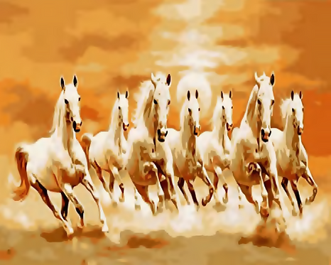 Seven White Horses Galloping - 4/5 Complexity