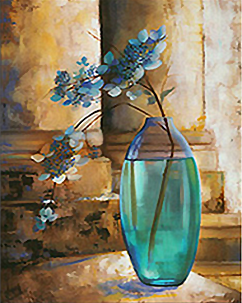 Vase of Blue Flowers - 3/5 Complexity