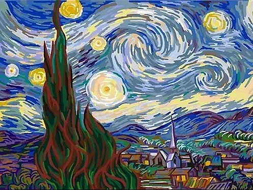Van Gogh's Starry Night - 4/5 Complexity