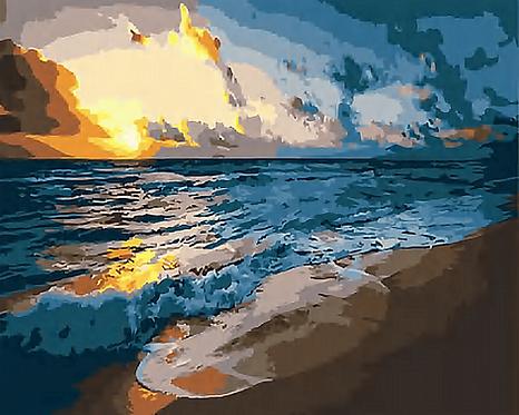 Sunrise Waves on a Beach - 3/5 Complexity