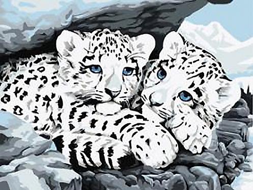 Snow Leopard Cubs - 3/5 Complexity