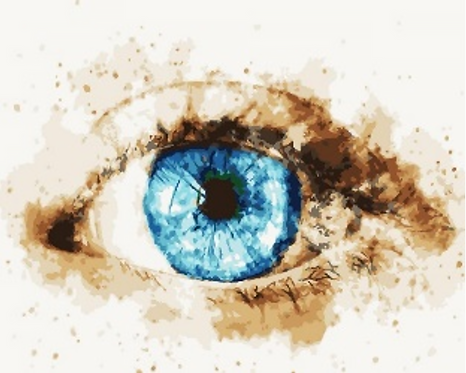 Abstract Blue Eye - 3/5 Complexity