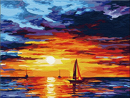 Boats with Sunset - 3.5/5 Complexity