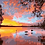 Thumbnail: Lake Scene at Sunset - 3/5 Complexity