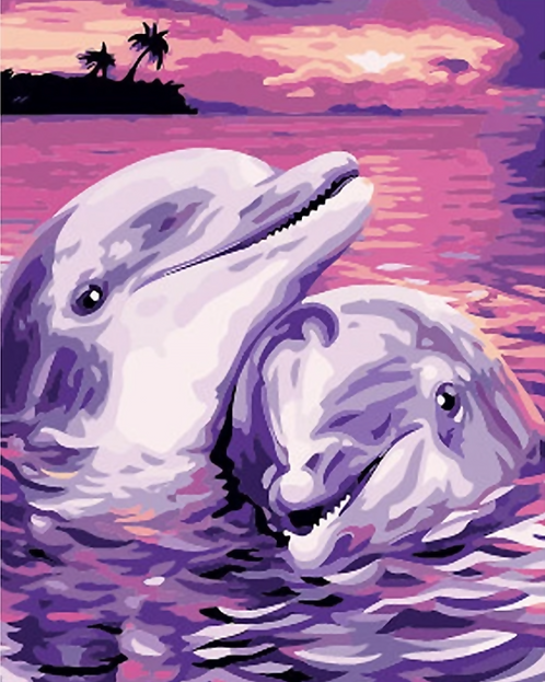 Dolphin Couple - 2/5 Complexity