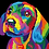 Thumbnail: Colourful Abstract Dog - 1.5/5 Complexity