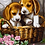 Thumbnail: Cute Puppies in a Basket - 3/5 Complexity