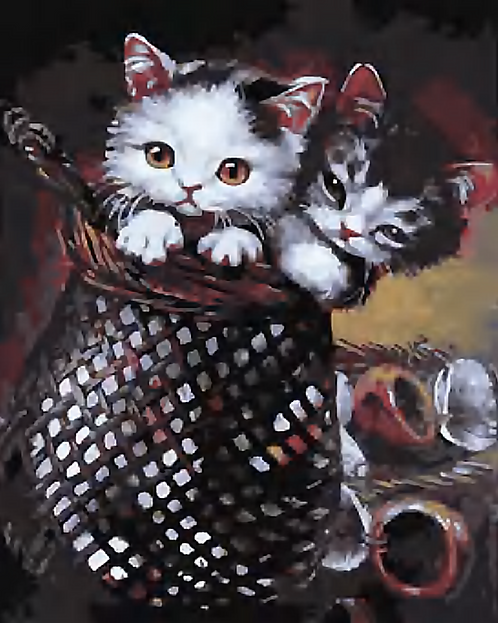 Two Cute Kittens - 3/5 Complexity