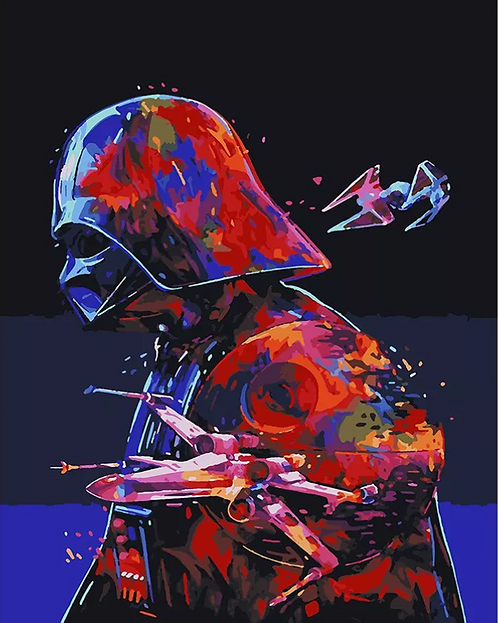 Abstract Star Wars Darth Vader - 3/5 Complexity