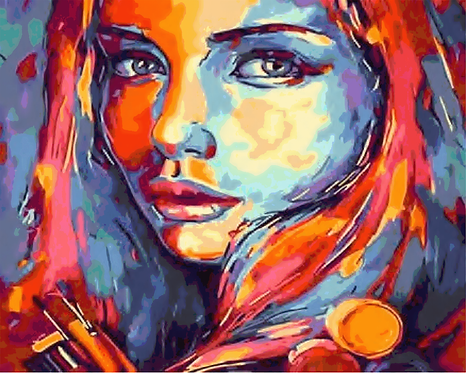 Abstract Colourful Girl - 3/5 Complexity