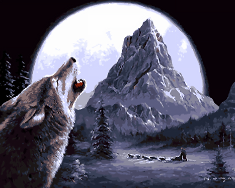 Wolf Howling at Moon - 3.5/5 Complexity
