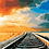 Thumbnail: Train Tracks with Sunset - 2.5/5 Complexity
